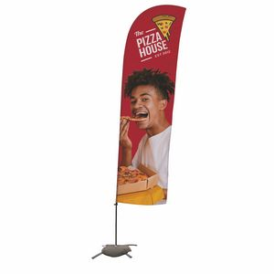 706188633-108 - 15' Value Blade Sail Sign Kit (Single-Sided w/ Cross Base) - thumbnail