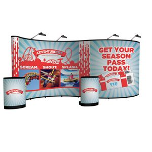 724022047-108 - 20' Serpentine Show 'N Rise Floor Display Kit (Full Mural) - thumbnail