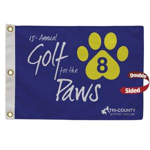 746058126-108 - Golf Flag with Canvas Heading (Double-Sided) - thumbnail