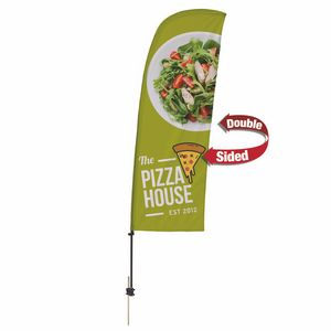 796185495-108 - 7.5' Value Blade Sail Sign Kit (Double-Sided w/ Spike Base) - thumbnail