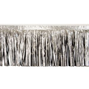 """796197776-108 - Victory Corps Embossed Silver and Black Fringe (15"""") - thumbnail"""