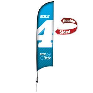 903728274-108 - 13' Premium Razor Sail Sign, 2-Sided, Ground Spike - thumbnail