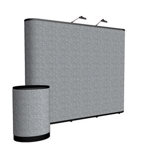 965438627-108 - 10' Straight Show 'N Rise Floor Display Kit (Fabric) - thumbnail