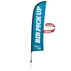 976188428-108 - 13' Premium Blade Sail Sign, 2-Sided, Ground Spike - thumbnail