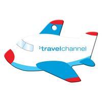 164047477-134 - Blue Plane Shaped Luggage Tag - thumbnail