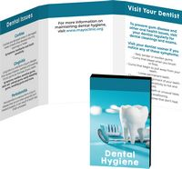 196042935-134 - Awareness Tek Booklet with Tooth Shaped Dental Floss With Key Chain - thumbnail