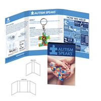 196083327-134 - Tek Booklet with 2 Square Inch Acrylic Keychain - thumbnail