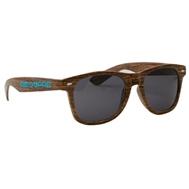 314707152-134 - Wood Grain Miami Sunglasses - thumbnail