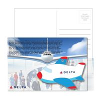 355956923-134 - Post Card With Full-Color Blue Plane Luggage Tag - thumbnail