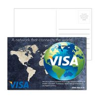 515956941-134 - Post Card With Full-Color Globe Luggage Tag - thumbnail