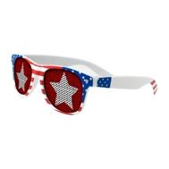 555066519-134 - Lenstek USA Patriotic Miami Sunglasses - thumbnail