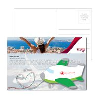 555956921-134 - Post Card With Full-Color Green Plane Luggage Tag - thumbnail