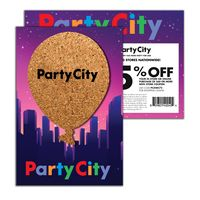 586022869-134 - Post Card with Balloon Cork Coaster - thumbnail