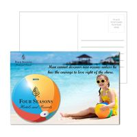 955956927-134 - Post Card With Full-Color Beach Ball Luggage Tag - thumbnail