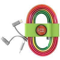 386178193-817 - Toddy Tie and Cable w/ Type C and Mfi Adapter - Green - thumbnail